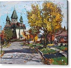 St. Marys Ukrainian Catholic Church Acrylic Print by Ylli Haruni