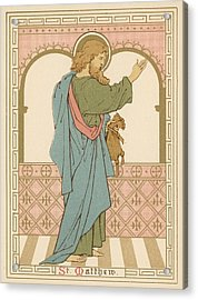 St Matthew Acrylic Print by English School