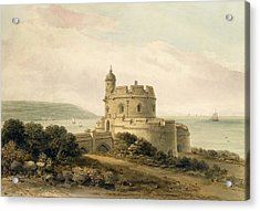 St Mawes Castle Acrylic Print by John Chessell Buckler