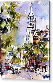 St Michael's Church Charleston South Carolina Acrylic Print by Ginette Callaway