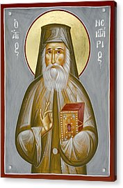 St Nektarios Of Aegina Acrylic Print by Julia Bridget Hayes