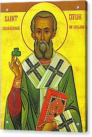 St Patrick And The Shamrock Acrylic Print by Pam Neilands
