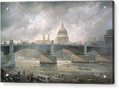 St. Paul's Cathedral From The Southwark Bank Acrylic Print by Richard Willis