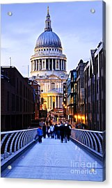 St. Paul's Cathedral London At Dusk Acrylic Print by Elena Elisseeva