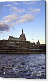 St Paul's Cathedral London Acrylic Print by Terri Waters