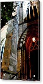 St. Paul's Presbyterian Church Hamilton Ontario  Canada Front View Acrylic Print by Danielle  Parent