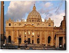 St. Peters Basilica Acrylic Print by Adam Romanowicz