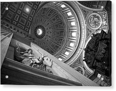St Peter's Basilica Bw Acrylic Print by Chevy Fleet