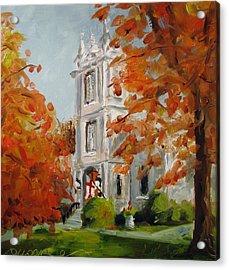 St Peters Episcopal Church Acrylic Print by Susan E Jones