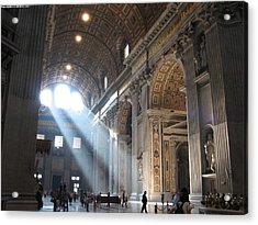 St Peters In The Morning Acrylic Print by Karin Thue