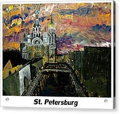 St  Petersburg Acrylic Print by Mark Moore