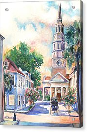 St. Philips Episcopal Church Acrylic Print by Alice Grimsley
