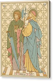 St Simon And St Jude Acrylic Print by English School