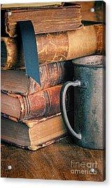 Stack Of Vintage Books Acrylic Print by Jill Battaglia