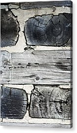 Stacked Block Abstract Acrylic Print by Barbara McMahon