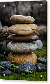 Stacked Stones A4 Acrylic Print by Marco Oliveira