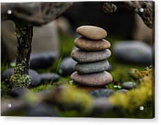 Stacked Stones B1 Acrylic Print by Marco Oliveira