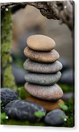 Stacked Stones B6 Acrylic Print by Marco Oliveira