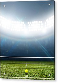 Stadium And Tennis Court Acrylic Print by Allan Swart