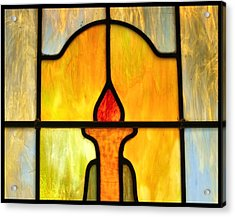 Stained Glass 7 Acrylic Print by Tom Druin