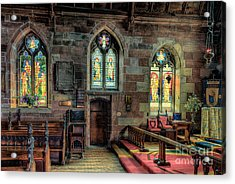 Stained Glass Acrylic Print by Adrian Evans