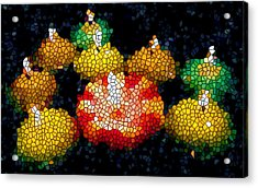 Stained Glass Candle 1 Acrylic Print by Lanjee Chee