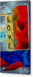Stained Glass Love Acrylic Print by Keith Thue