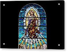 Stained Glass Pc 02 Acrylic Print by Thomas Woolworth