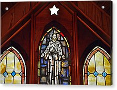 Stained Glass Saviour Acrylic Print by Al Powell Photography USA