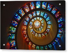 Stained Glass Spiral Acrylic Print by James Kirkikis