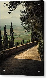 Staircase To Pienza Acrylic Print by Clint Brewer