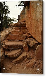 Stairs In The Desert Acrylic Print by Jeff Swan