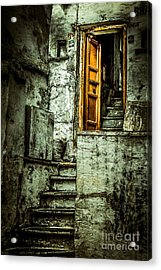 Stairs Leading To The Old Door Acrylic Print by Catherine Arnas