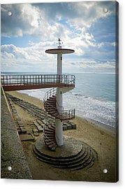 Stairway Cadiz Beach Acrylic Print by Greetje Kamps