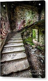 Stairway Graffiti Acrylic Print by Adrian Evans