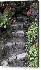 Stairway Path To Gardens Acrylic Print by Athena Mckinzie