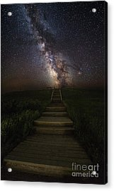 Stairway To The Galaxy Acrylic Print by Aaron J Groen