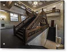 Stairwell Chicago Cultural Center Acrylic Print by Steve Gadomski