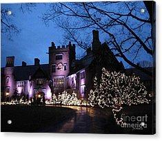 Stan Hywet Hall And Gardens Christmas  Acrylic Print by Joan  Minchak