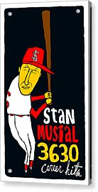 Stan Musial St Louis Cardinals Acrylic Print by Jay Perkins