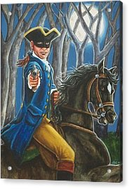 Stand And Deliver Acrylic Print by Beth Clark-McDonal