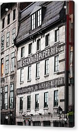 Standard Paper Acrylic Print by John Rizzuto