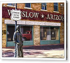 Standin' On The Corner Acrylic Print by Diane Wood