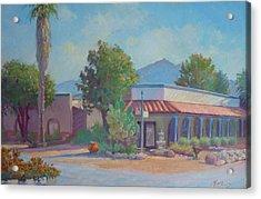 Standin' On The Corner In Tubac Arizona Acrylic Print by John Marbury