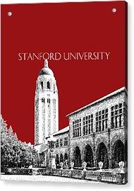 Stanford University - Dark Red Acrylic Print by DB Artist