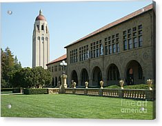 Stanford University Palo Alto California Hoover Tower Dsc685 Acrylic Print by Wingsdomain Art and Photography