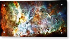 Star Birth In The Carina Nebula  Acrylic Print by The  Vault - Jennifer Rondinelli Reilly
