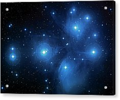 Star Cluster Pleiades Seven Sisters Acrylic Print by The  Vault - Jennifer Rondinelli Reilly