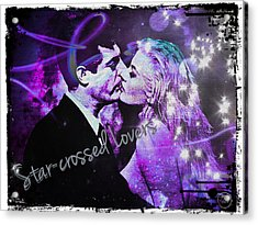 Star-crossed Lovers Acrylic Print by Absinthe Art By Michelle LeAnn Scott