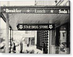 Star Drug Store Marquee Acrylic Print by Scott Pellegrin